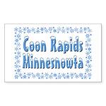 Coon Rapids Minnesnowta Sticker (Rectangle 50 pk)
