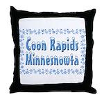 Coon Rapids Minnesnowta Throw Pillow