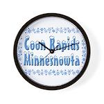 Coon Rapids Minnesnowta Wall Clock