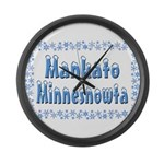 Mankato Minnesnowta Large Wall Clock