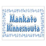 Mankato Minnesnowta Small Poster