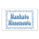 Mankato Minnesnowta Sticker (Rectangle 50 pk)