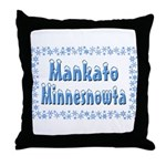 Mankato Minnesnowta Throw Pillow