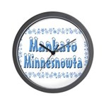 Mankato Minnesnowta Wall Clock