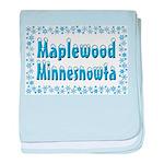 Maplewood Minnesnowta baby blanket