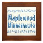 Maplewood Minnesnowta Framed Tile