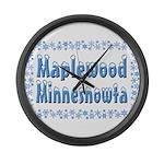 Maplewood Minnesnowta Large Wall Clock