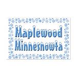 Maplewood Minnesnowta Mini Poster Print