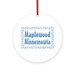 Maplewood Minnesnowta Ornament (Round)
