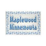 Maplewood Minnesnowta Rectangle Magnet