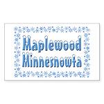 Maplewood Minnesnowta Sticker (Rectangle 10 pk)