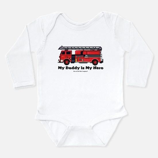 My daddy is my hero Long Sleeve Infant Bodysuit