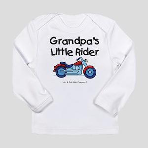 Grandpa's Little Rider Long Sleeve Infant T-Shirt