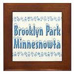 Brooklyn Park Minnesnowta Framed Tile