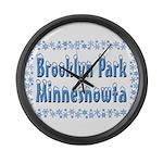 Brooklyn Park Minnesnowta Large Wall Clock