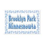 Brooklyn Park Minnesnowta Mini Poster Print