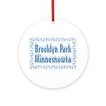 Brooklyn Park Minnesnowta Ornament (Round)