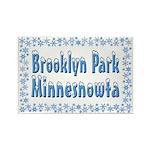 Brooklyn Park Minnesnowta Rectangle Magnet