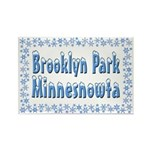 Brooklyn Park Minnesnowta Rectangle Magnet (10 pac