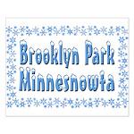Brooklyn Park Minnesnowta Small Poster