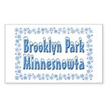 Brooklyn Park Minnesnowta Sticker (Rectangle 10 pk