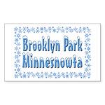 Brooklyn Park Minnesnowta Sticker (Rectangle)