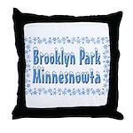 Brooklyn Park Minnesnowta Throw Pillow