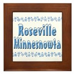Roseville Minnesnowta Framed Tile