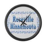 Roseville Minnesnowta Large Wall Clock