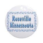 Roseville Minnesnowta Ornament (Round)