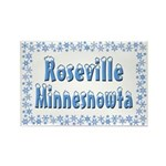 Roseville Minnesnowta Rectangle Magnet