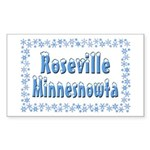 Roseville Minnesnowta Sticker (Rectangle 10 pk)