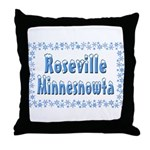 Roseville Minnesnowta Throw Pillow