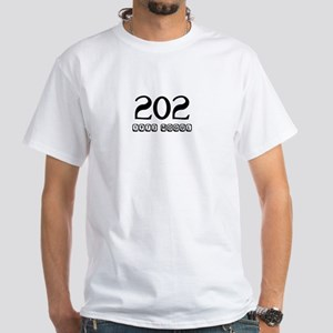 202 AREA CODE White T-Shirt
