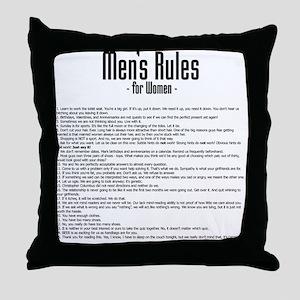 Men's Rules Throw Pillow