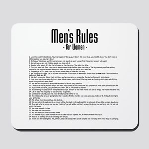 Men's Rules Mousepad