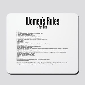 Women's Rules Mousepad