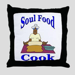 Soul Food Cook Throw Pillow