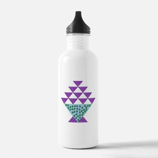 Flower Pot Quilt Water Bottle