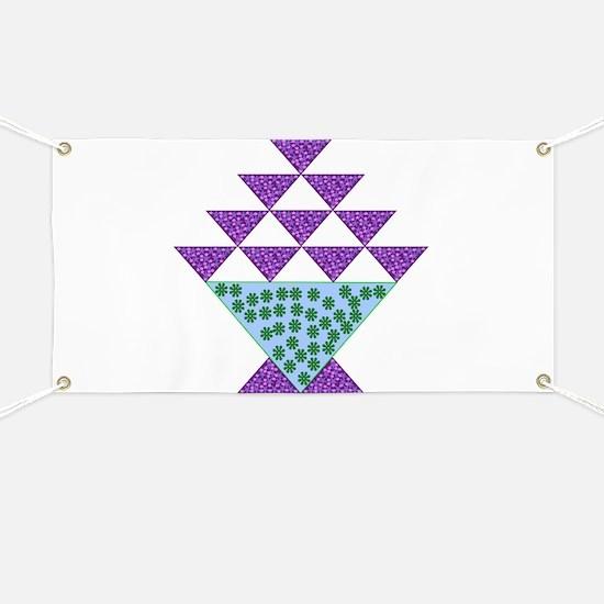 Flower Pot Quilt Banner