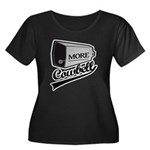 More cowbell Women's Plus Size Scoop Neck Dark T-S
