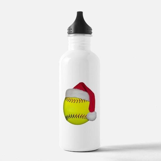 Softball Santa Water Bottle