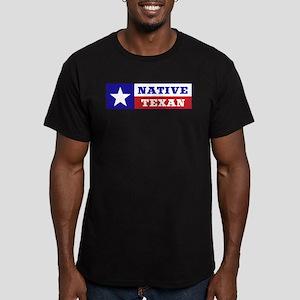 Native Texan Men's Fitted T-Shirt (dark)