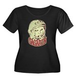 Gagarin Women's Plus Size Scoop Neck Dark T-Shirt