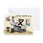 Blue Pill Kurtosis Greeting Cards (Pk of 20)