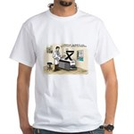 Blue Pill Kurtosis White T-Shirt