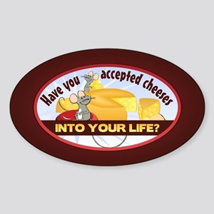 Accept Cheeses Sticker (Oval)