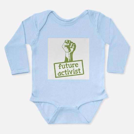Future Activist Long Sleeve Infant Bodysuit