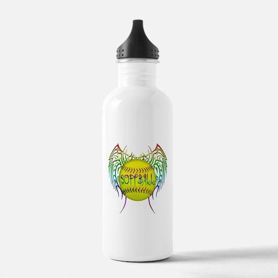 Tribal softball Water Bottle