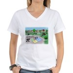 Fibonacci Hopscotch Women's V-Neck T-Shirt